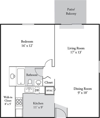 Sawyer floor plan